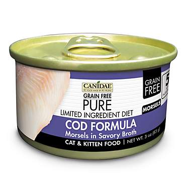 CANIDAE Grain Free PURE Limited Ingredient Diet Morsels With Cod Wet Cat Food