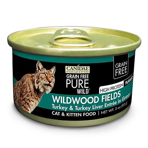 75fa659532 CANIDAE Grain Free PURE WILD Wildwood Fields With Turkey   Turkey Liver Wet  Cat Food
