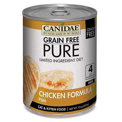 CANIDAE Grain Free PURE Limited Ingredient Diet Pate With Chicken Wet Cat Food