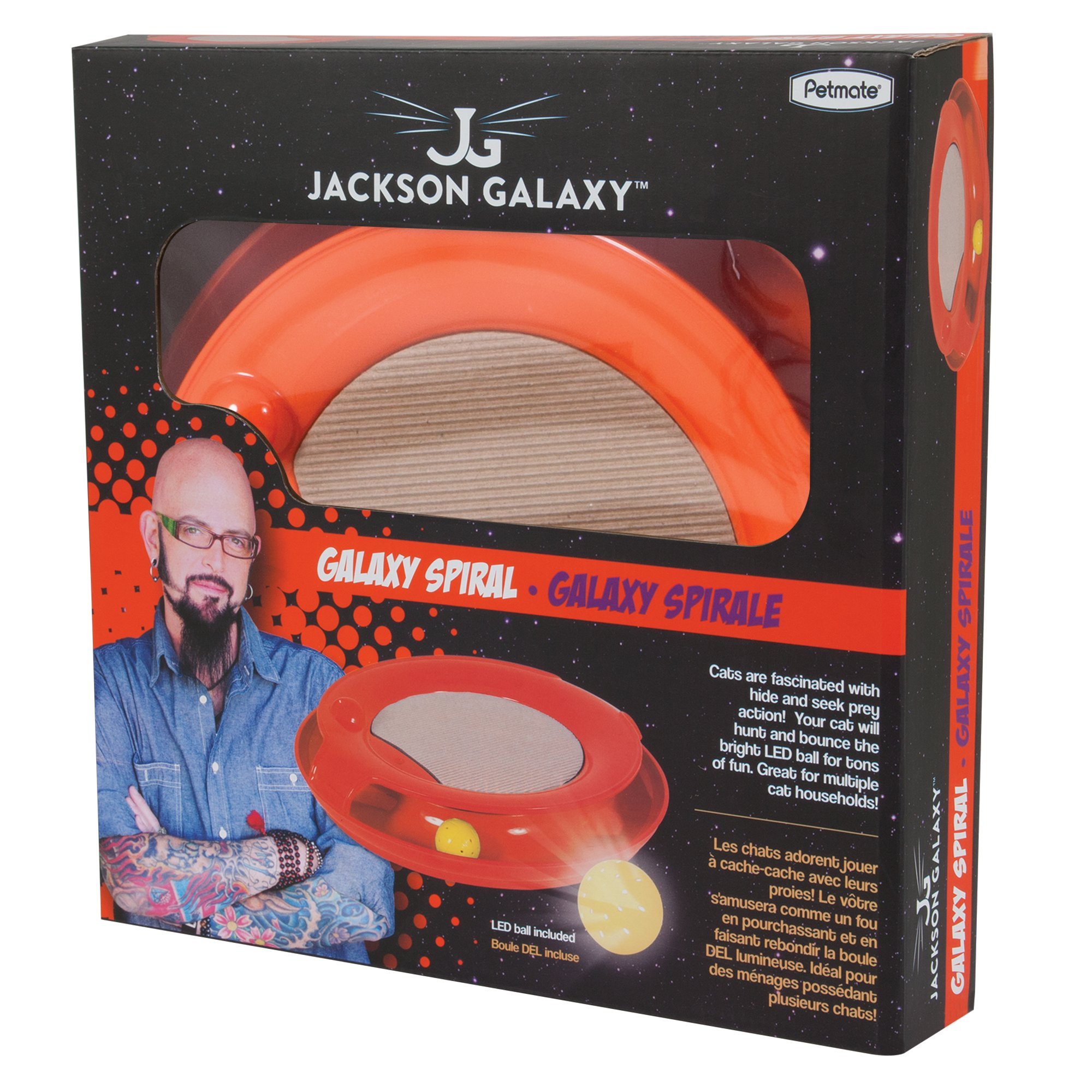 Jackson galaxy spiral orange petco for Jackson galaxy pet toys