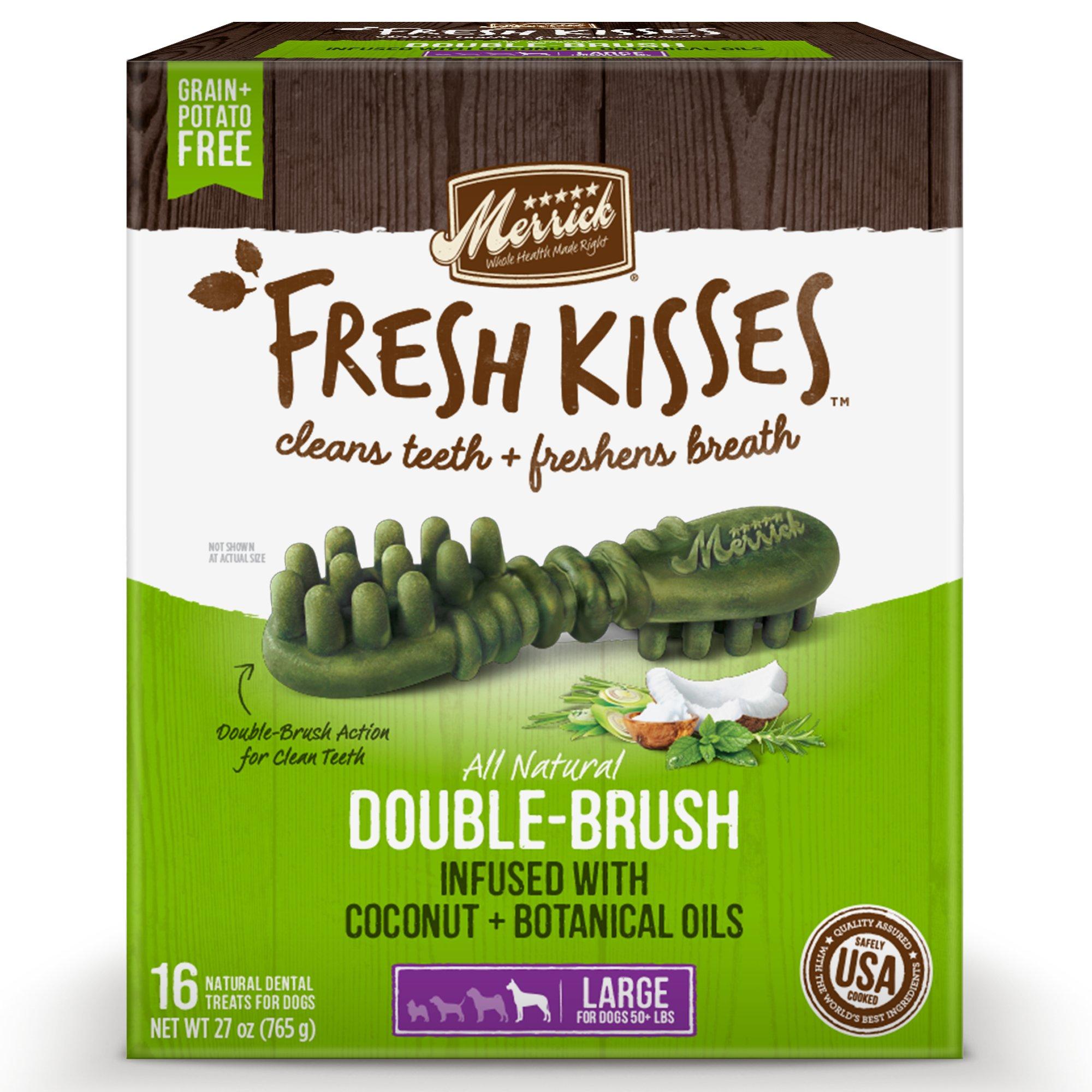 Fresh Kisses Coconut Oil + Botanicals Large Brush Dental ...