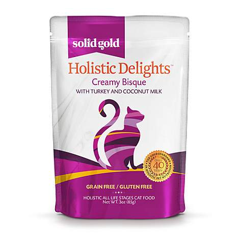 Solid Gold Delights Turkey & Coconut Milk Creamy Bisque Cat Food
