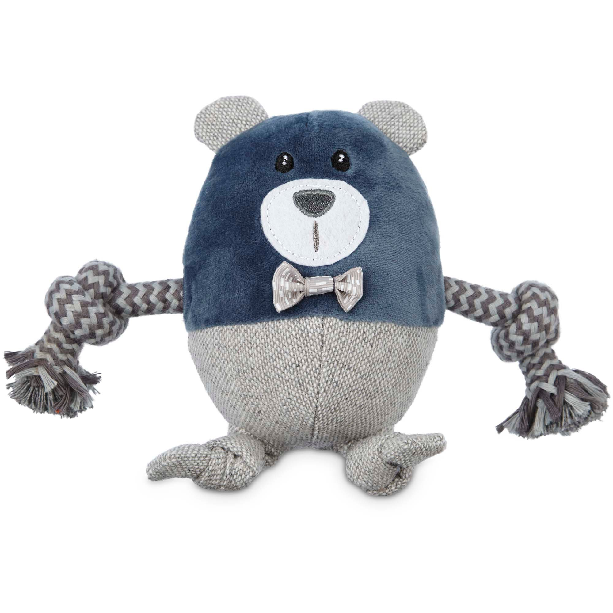Leaps Amp Bounds Wildlife Plush And Rope Bear Dog Toy Petco