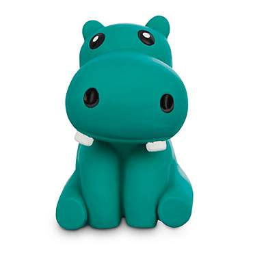 Leaps & Bounds Chomp and Chew Latex Hippo Dog Toy