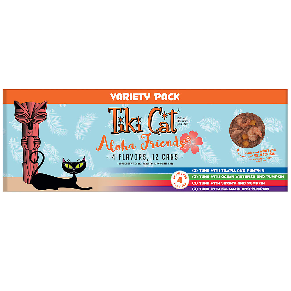 Tiki Cat Aloha Friends Variety Pack Wet Cat Food, 3 oz., Case of 12