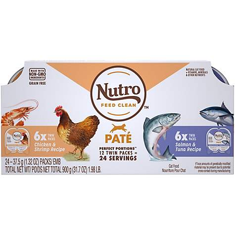 Nutro Wild Frontier Perfect Portions Pate Real Salmon & Trout Wet Cat Food Variety Pack