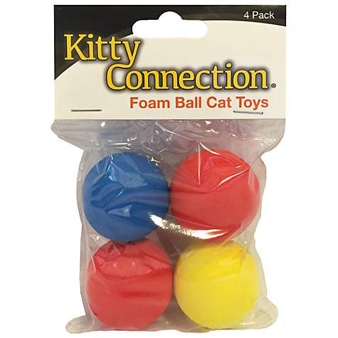 Innovation Pet Kitty Connection Foam Balls 4-Pack Cat Toy