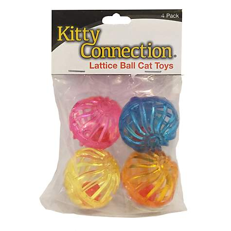 Innovation Pet Kitty Connection Lattice Balls 4-Pack