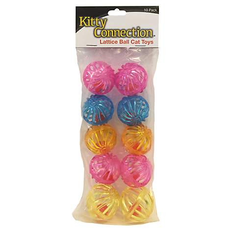 Innovation Pet Kitty Connection Lattice Balls 10-Pack