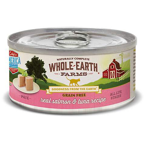 Whole Earth Farms Grain Free Real Salmon & Tuna Pate Cat Wet Food