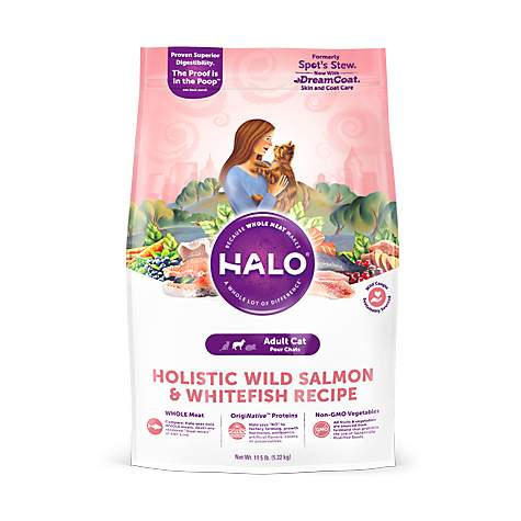 Halo Holistic Wild Salmon and Whitefish for Natural Dry Cat Food