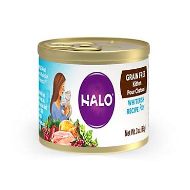 Halo Grain Free Kitten Whitefish Canned Cat Food