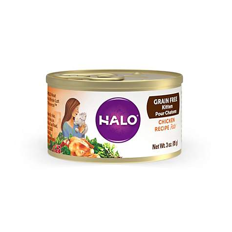 Halo Grain Free Kitten Chicken Recipe Wet Cat Food