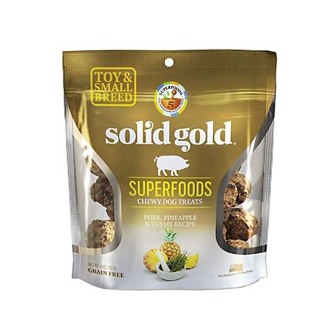 Solid Gold Grain Free Pork, Pineapple & Thyme Small & Toy Breed Chewy Dog Treats