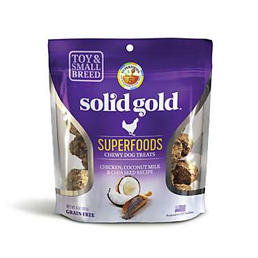 Solid Gold Grain Free Chicken, Coconut Milk & Chia Seed Small & Toy Breed Chewy Dog Treats