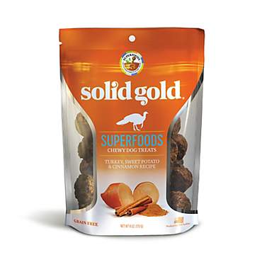 Solid Gold Grain Free Turkey, Sweet Potato & Cinnamon Natural Chewy Dog Treats