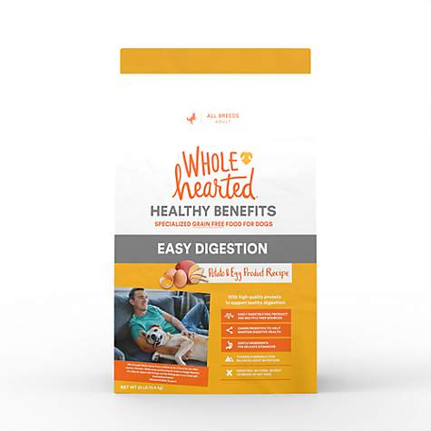 WholeHearted Grain Free Healthy Benefits Easy Digestion Potato and Egg  Product Recipe Dry Dog Food, 25 lbs