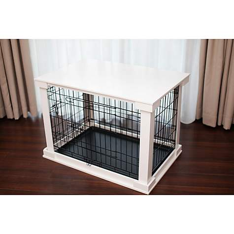 Merry Products Crate with Crate Cover in White