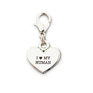 Bond & Co. I Love My Human Dog Collar Charm
