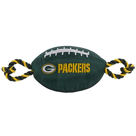 Pets First Green Bay Packers Football Dog Toy