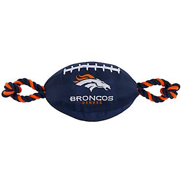 Pets First Denver Broncos Football Dog Toy
