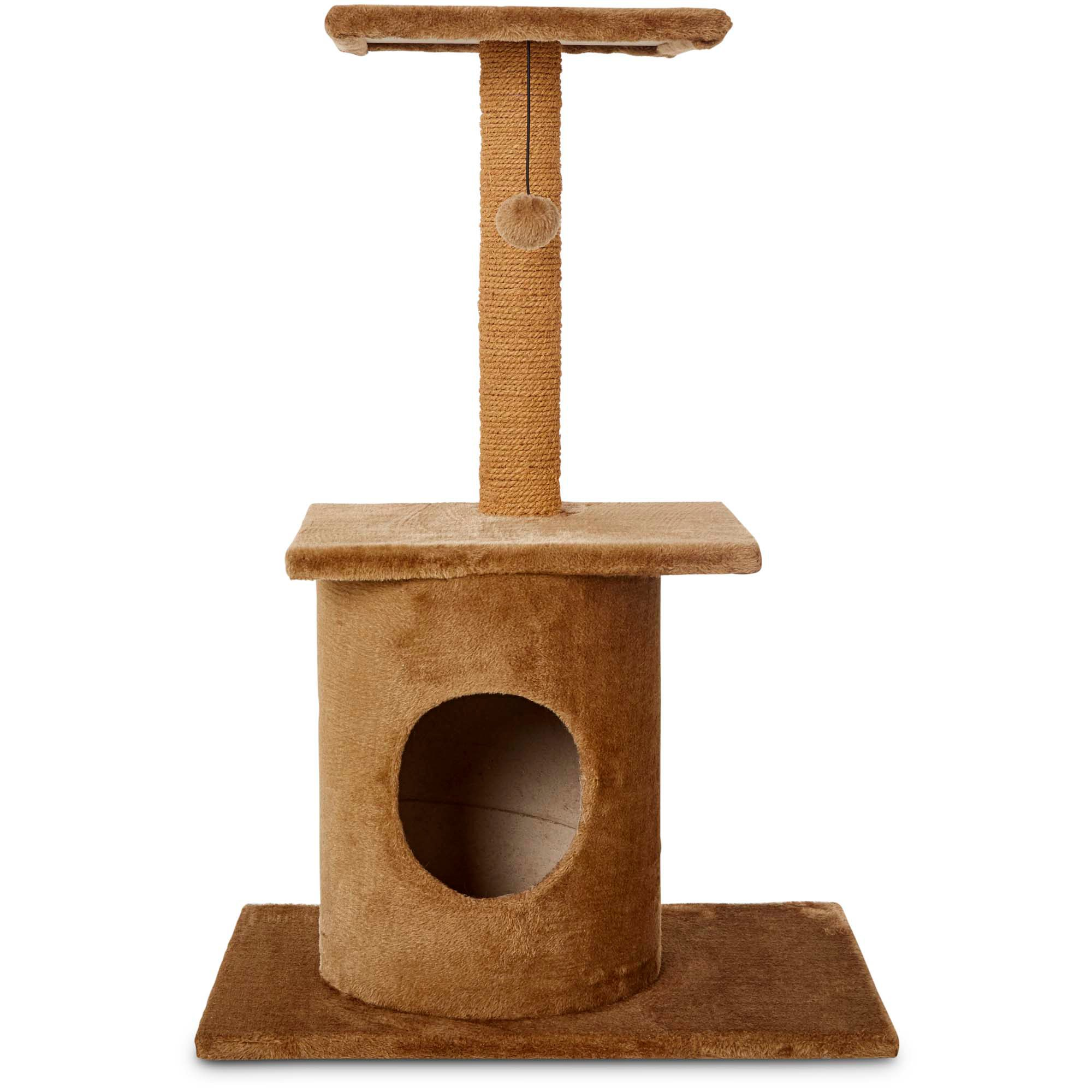 Animaze Brown Cat Tree Condo with Scratching Post, 36\ With Post | Petco