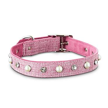 Bond & Co. Glitz and Glamor Pink Tweed Dog Collar