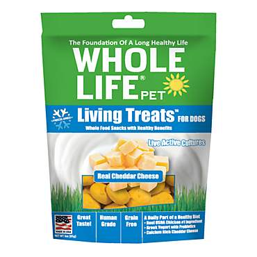 Whole Life Pet Living Treats USA Freeze Dried Cheddar Cheese Treats for Dogs