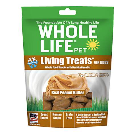 Whole Life Pet Living Treats USA Freeze Dried Peanut Butter Treats for Dogs