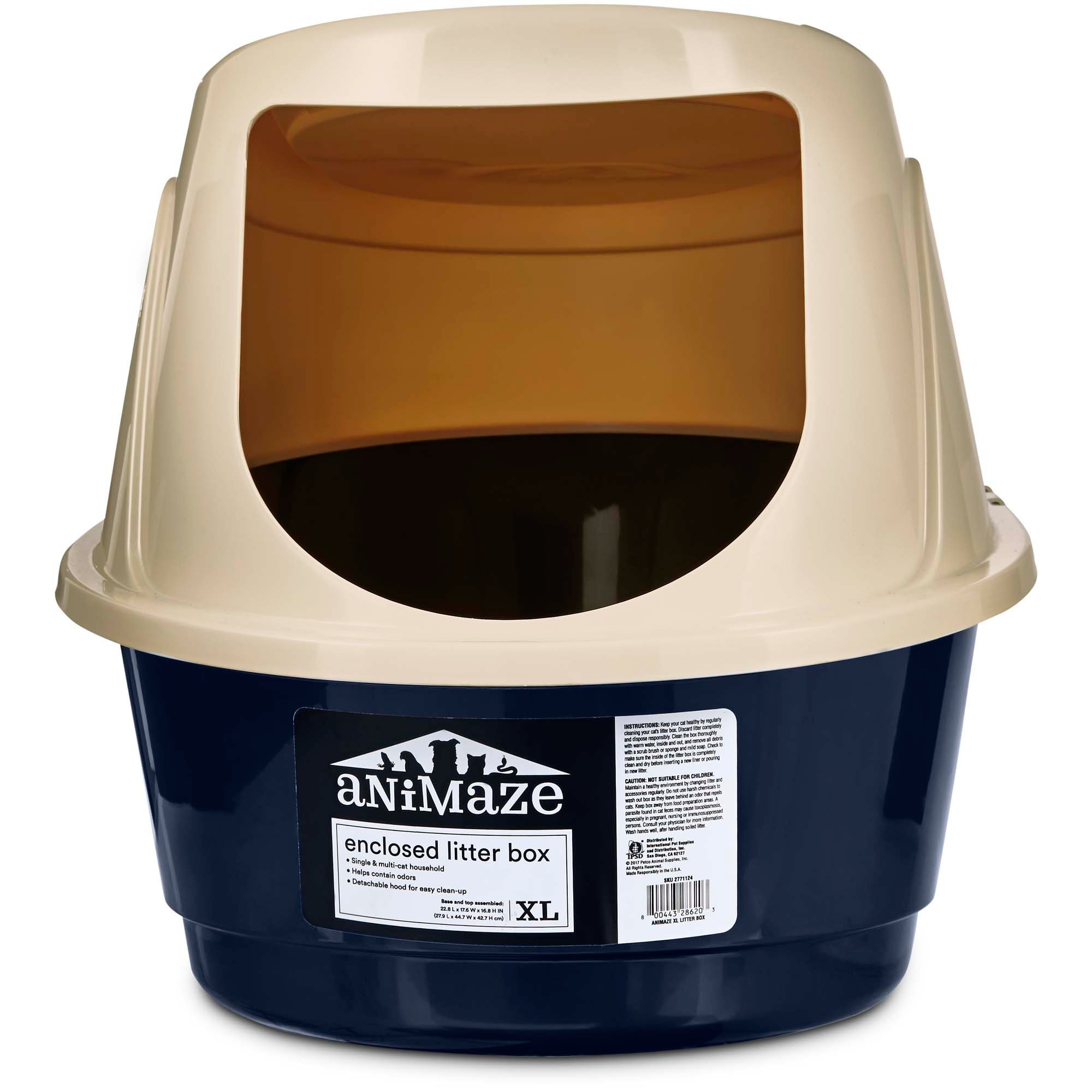 image covered cat litter. Animaze Enclosed Cat Litter Box Image Covered X