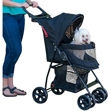 Pet Gear Happy Trails Lite No-Zip Pet Stroller in Jaguar