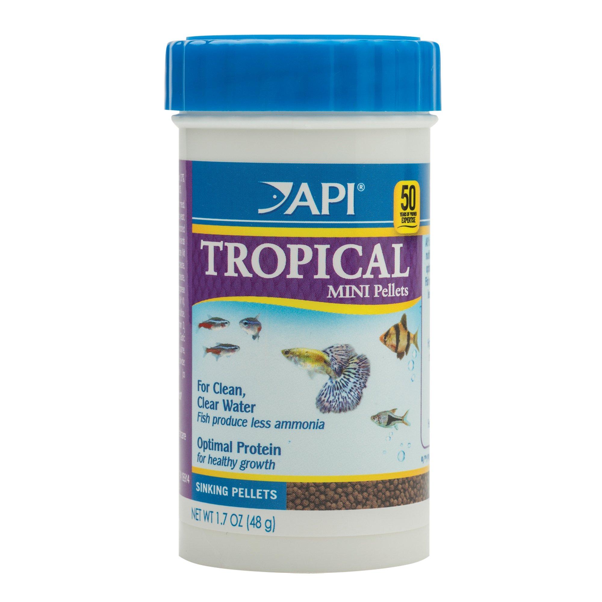 Api tropical mini pellets mini sinking pellets fish food for Petco fish food