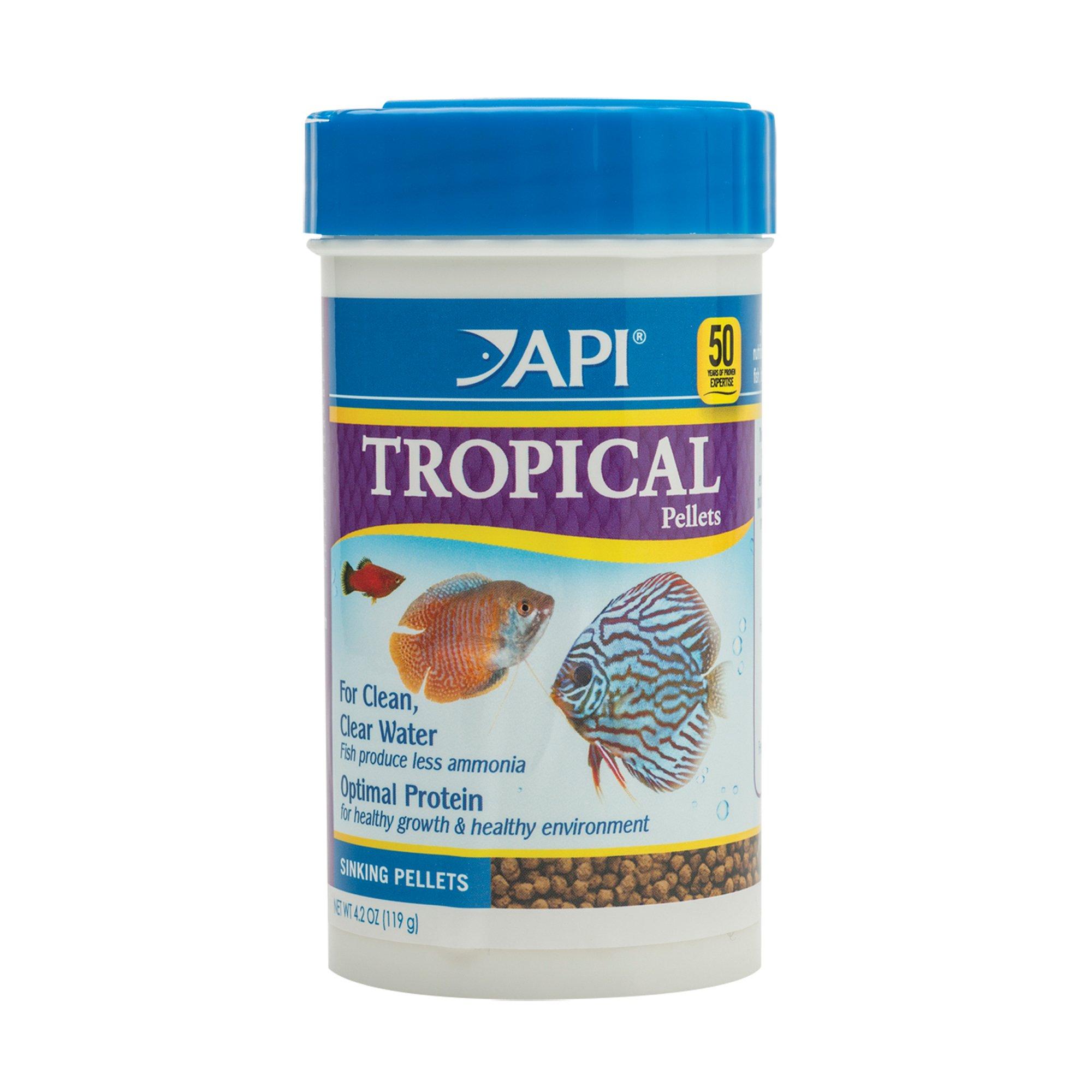 Api tropical pellets sinking pellets fish food petco for Petco fish food