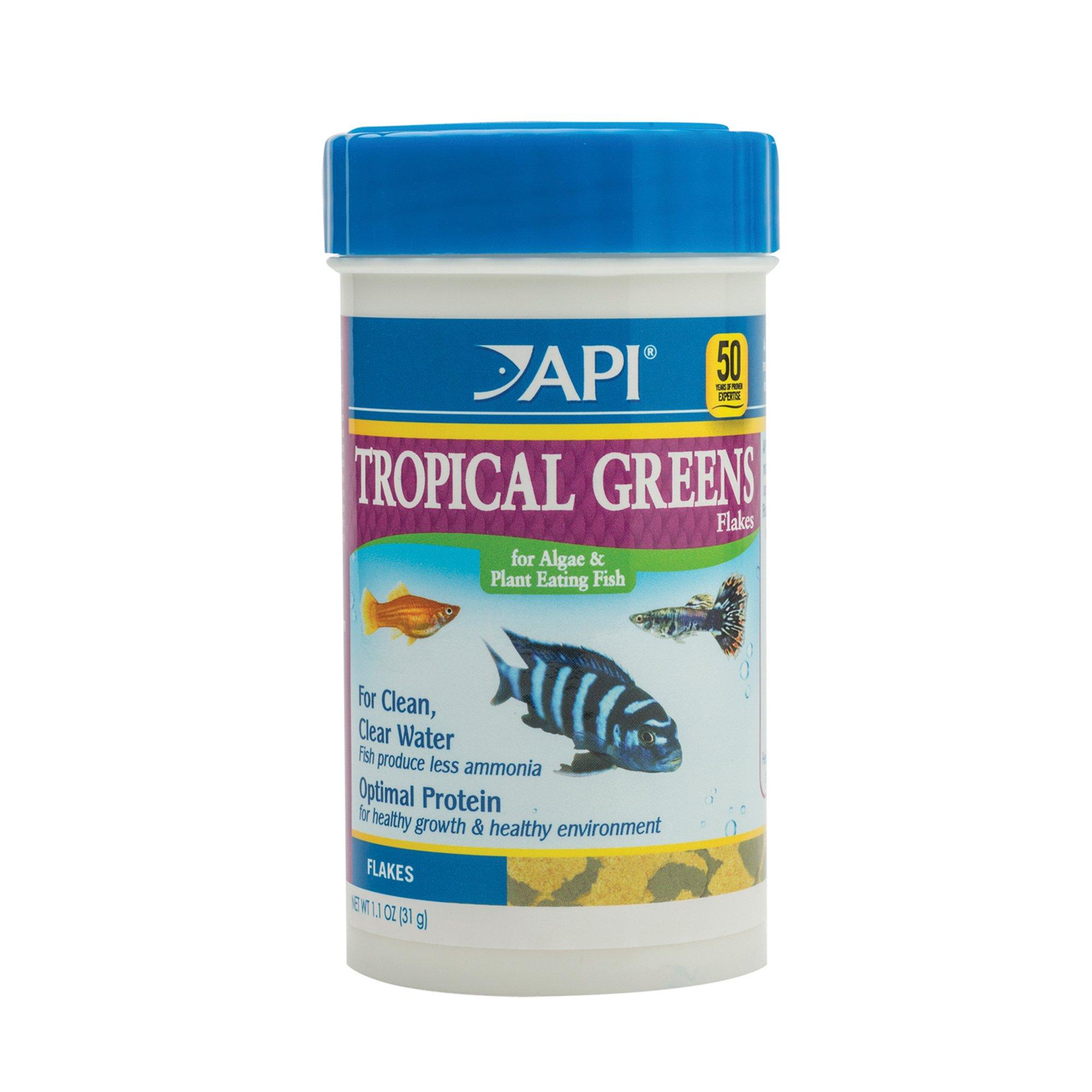 Api tropical greens flakes tropical fish greens flakes for Petco fish food