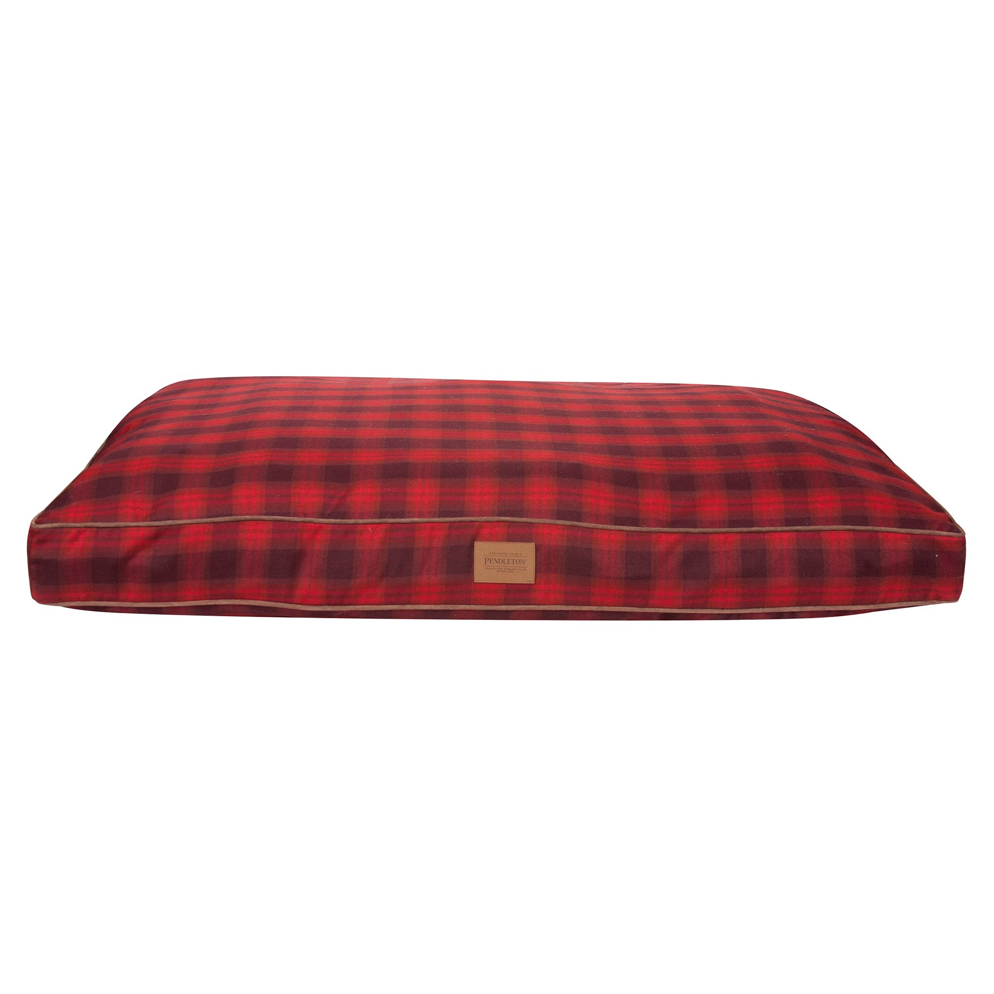 Pendleton Plaid Pet Bed In Red Ombre