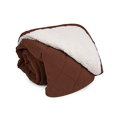 Carolina Pet Quilt Microfiber & Cloud Sherpa Throw in Chocolate