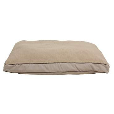 Carolina Pet Rectangular Napper with Berber Top in Khaki Canvas with Sage Cording