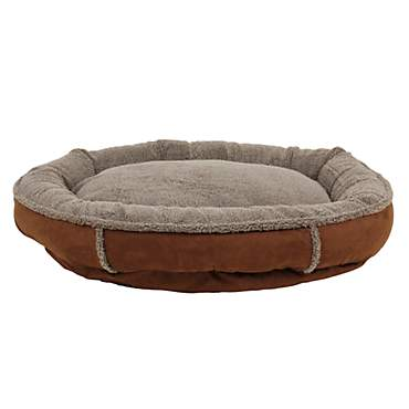 Carolina Pet Faux Suede & Sherpa Comfy Cup in Chocolate