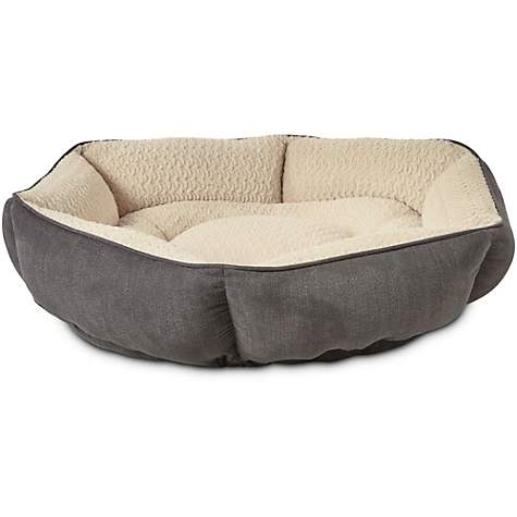 Petco Tranquil Cuddler Memory Foam Dog Bed in Grey