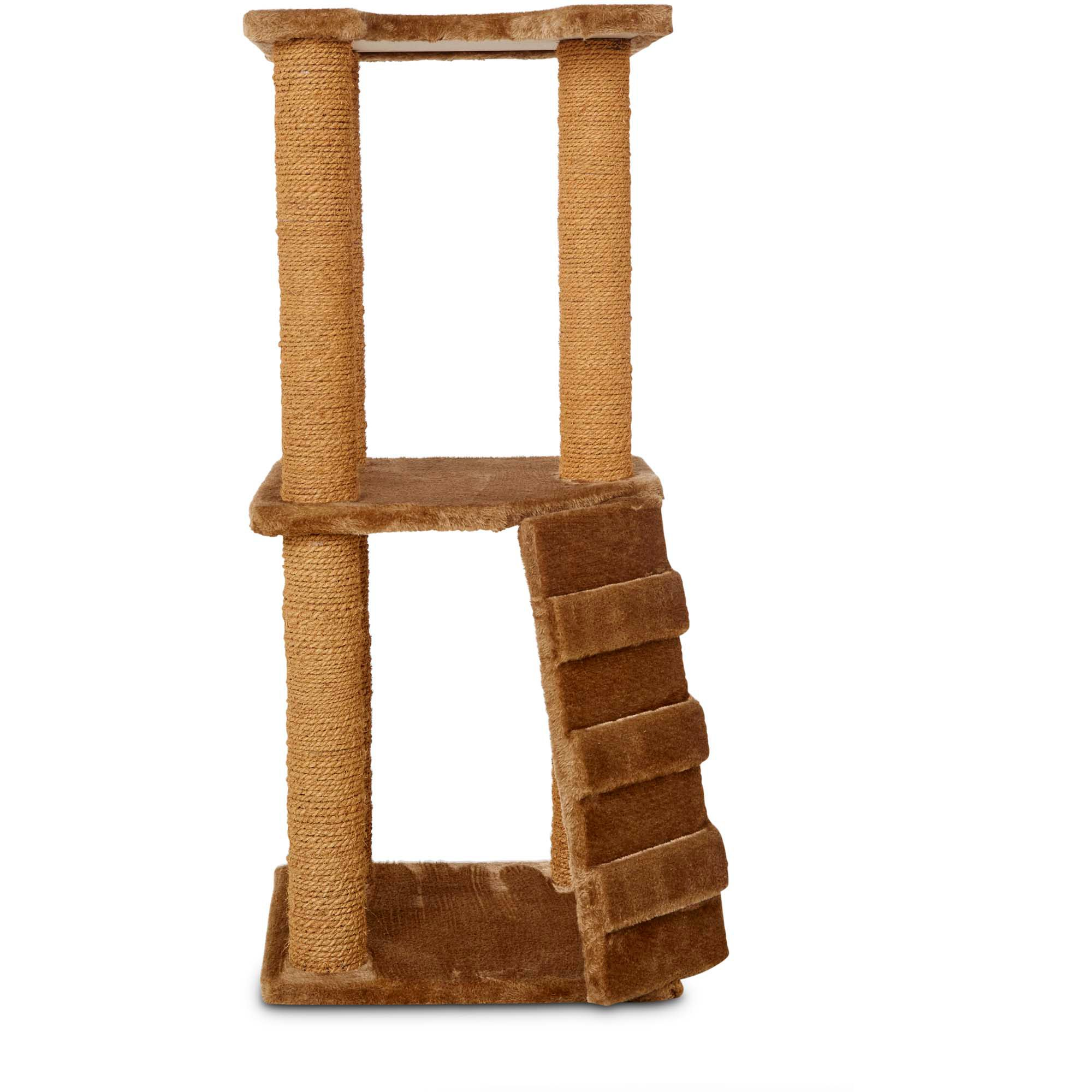 "Image of ""Animaze 2-Level Cat Tree, 37.5"""" H, 18 IN, Brown"""
