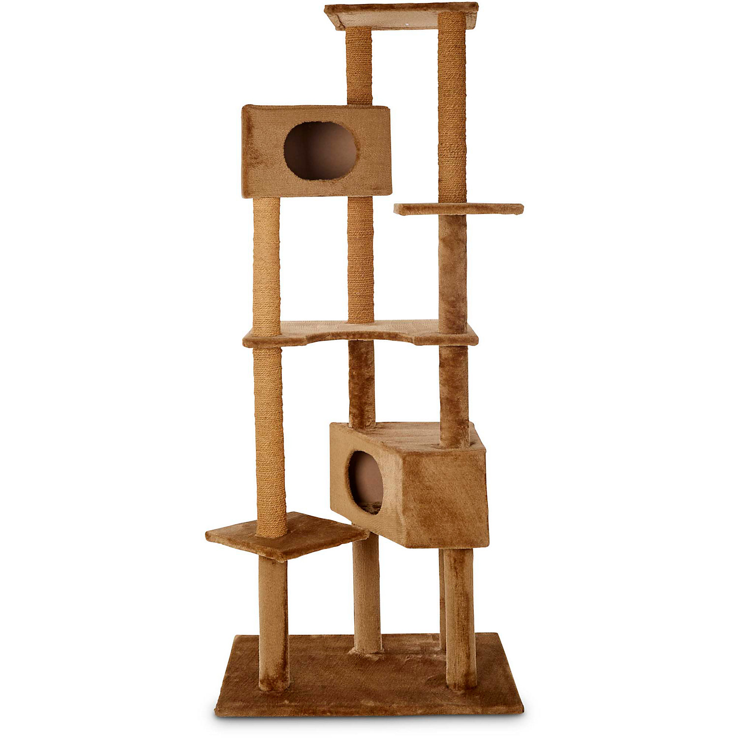 "Image of ""Animaze 6-Level Cat Tree, 76"""" H, Brown"""