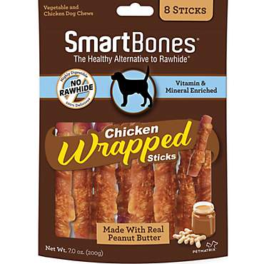 SmartBones Large Chicken Wrapped Stick Dog Treats