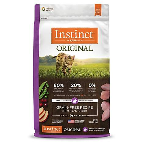 Instinct Original Grain Free Recipe with Real Rabbit Natural Dry Cat Food by Nature's Variety