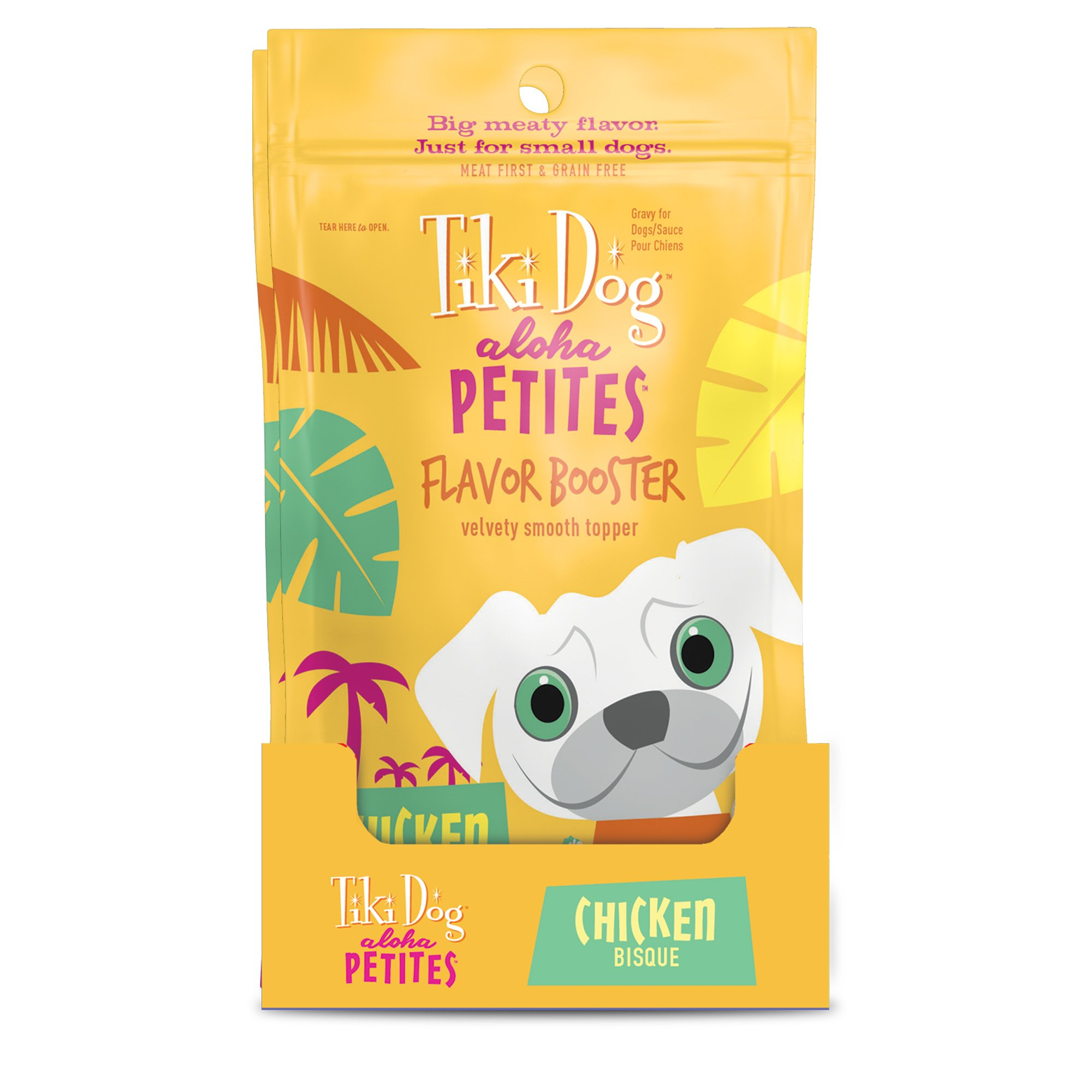 Tiki Dog Aloha Petites Chicken Bisque Small Breed Dog Treat Pouches, 1.5...