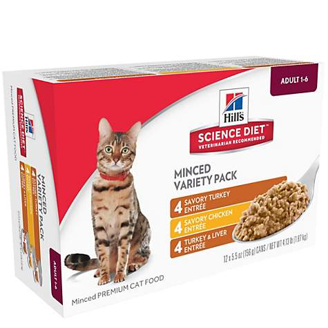 Hill's Science Diet Adult Entree Can Variety Pack Cat Food