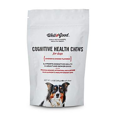Well & Good Chicken and Cheese Flavored Cognitive Health Dog Chews