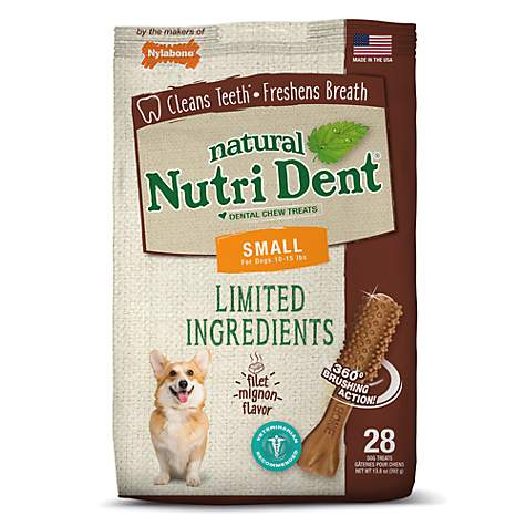 Nylabone Nutri Dent Limited Ingredients Small Filet Mignon Dental Chews