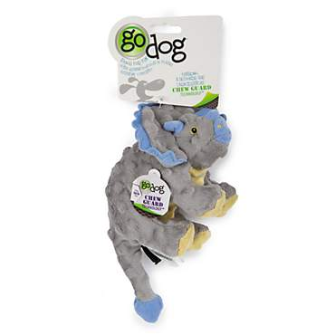 Godog Dinos Frills Gray Small With Chew Guard Grey