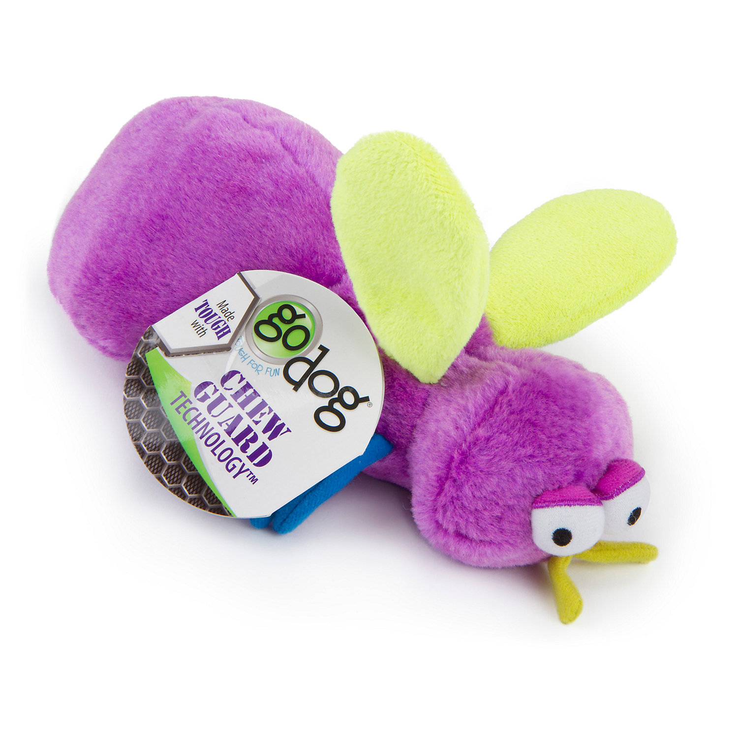 Image of Godog Bugs Fly Purple Large With Chew Guard Purple, Large, Purple / Green