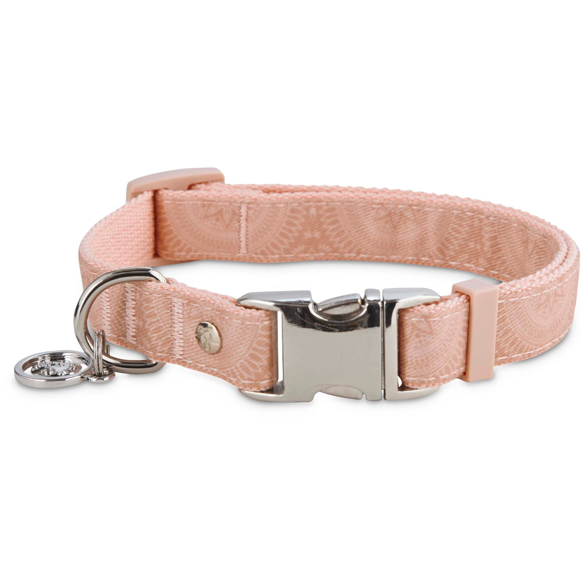 Serenity Pink Medallion Adjustable Dog Collar